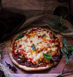 Caramelized Onion Ham Pepper Pizza - Havoc In The Kitchen