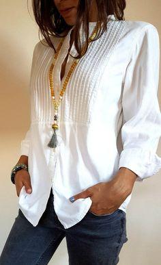 FloryDay / Blusas Reto Informal de Gola V Manga comprida Boho Fashion, Fashion Outfits, Womens Fashion, Cheap Fashion, Fashion Design, Casual Chic, Mode Outfits, Casual Outfits, Bohemian Mode