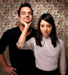 Jake Johnson & Aubrey Plaza. I went to camp with Aubrey when I was a kid. Good old Delaware.