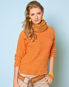 Скачайте схемы Оранжевая кофточка, вид рукоделия Вязание спицами - Валентина.ру