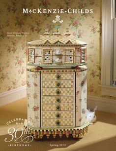 Classic furniture shapes with a MacKenzie-Childs twist, offering outstanding comfort and unparalleled style. Engaging and eclectic hand decorated designs. Funky Painted Furniture, Diy Furniture, Princess Playhouse, Mackenzie Childs Inspired, Mckenzie And Childs, Jewelry Armoire, Room Paint, Kids Playing, Decorating Your Home