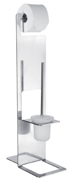 Edle Bürstengarnitur CATANIA von NICOL aus Edelstahl und Glas. Gesehen bei kloundco.de zum Sonderpreis von € 149,- statt € 299,-.