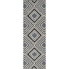 Hand-woven Velva Grey Wool Rug (2'6 x 8') - Overstock™ Shopping - Great Deals on Runner Rugs