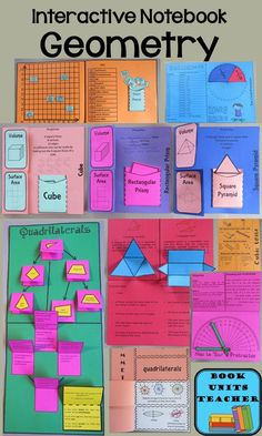 Geometry Bulletin Boards Check out this great product from Teachers Pay Teachers.Check out this great product from Teachers Pay Teachers. Geometry Book, Geometry Interactive Notebook, Geometry Lessons, Teaching Geometry, Math Lessons, Teaching Math, Interactive Student Notebooks, Sacred Geometry, Teaching Ideas