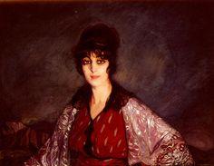 Ignacio Zuloaga y Zabaleta Retrato De Lola Con Vestido De Flores Blancas cuadros de Zuloaga y Zabaleta (1870-1945)