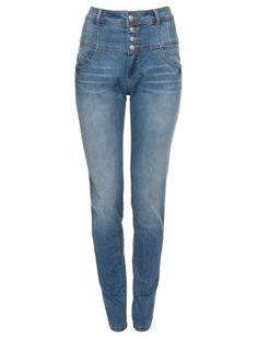 Vaqueros d Talle ALTO High-Waisted Skinny Jeans