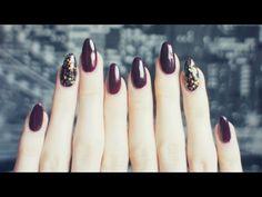 Idealny jesienny manicure | Paznokcie hybrydowe z brokatem | Semilac - YouTube
