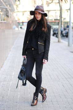 #streetstyle with a chic #hat via The - StreetStyle