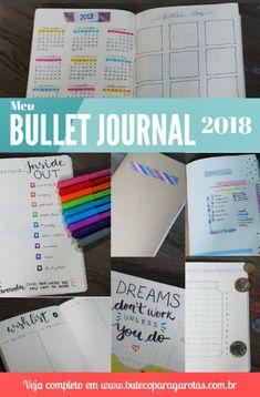Como montar um Bullet Journal  Ideias Layouts Páginas em português