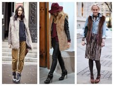 JRebeccaStyle | Fur vest over jacket
