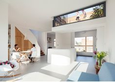 Scenario Architecture lowers a ceiling to create a sunken roof terrace for a London home.