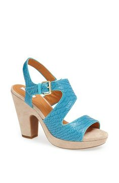 Geox 'Nurit' Sandal leather turquoise 4h (169.95) NA
