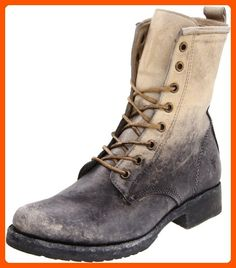 404c11a3d16 Frye Veronica combat boots in black stone washed cognac stone washed dark  brown stone washed stone stone washed