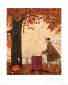 LOVELY WEATHER FOR DUCKS SAM TOFT MOUNTED PRINT FRAME OPTIONS 30 x 30cm