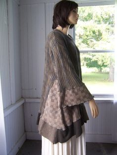 Upcycled Long Sweater Tunic Dress Duster by SWEETBEARIESVINTAGE