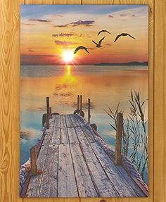 Pier Birds in Flight Beach Sunset Wall Art Lighted Scenic Canvas Seaside Coastal Nautical Decor KNL Store http://www.amazon.com/dp/B0105MLHCW/ref=cm_sw_r_pi_dp_lfIwwb0AS9T6D