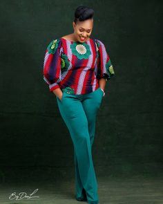 Top-Rated Ankara Tops Ideas That Trends Globally - African Wear Dresses, African Fashion Ankara, Latest African Fashion Dresses, Latest Ankara Styles, African Print Fashion, African Attire, African Blouses, African Tops, African Print Pants