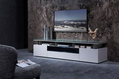 Tv Stand And End Tables, Contemporary Tv Stands, Tv Stand Decor, Black Tv Stand, Rack Tv, Tv Stand Designs, Living Room Entertainment Center, Entertainment Centers, Kitchen Wall Cabinets
