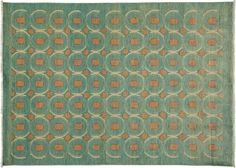 """Eclectic, Oriental Rug 5 x 8 Blue Wool Area Rugs - 5' 2"""" x 7' 1"""" – Solo Rugs"""