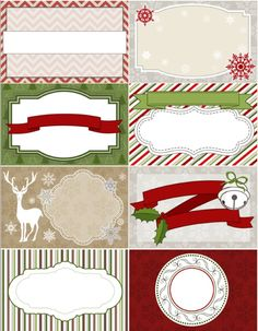 Free printable Christmas labels, tags, digital papers from @Erin B B B Rippy - Ink Tree Press   @Kathy Chan Held @Kathy Held @Labels @WorldLabel.com.com.com.com part of a collection.