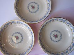 Vintage Lenox Fairmount Pink Blue Floral Berry by thechinagirl