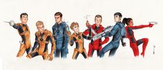 The Crew by CaptBexx on DeviantArt <--- CHEKOV HAS SQUIRT GUNS AND I CAN'T HANDLE IT