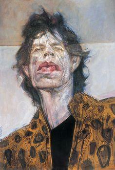 Mick Jagger - illustration by Sebastian Kruger