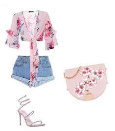 """""""Flower"""" by sara-balut on Polyvore featuring Levi's, René Caovilla and Ted Baker"""