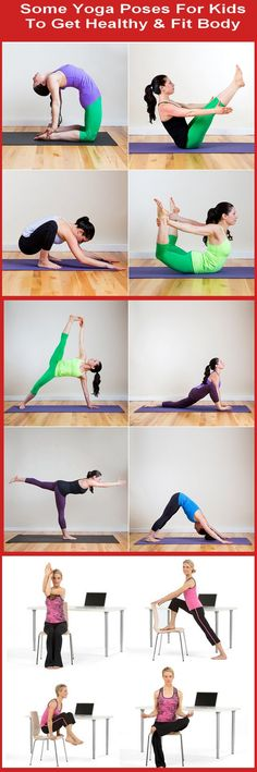 Some #Yoga Poses For Kids To Get #Healthy & Fit #Body #Yoga #WeightLoss #Exercise