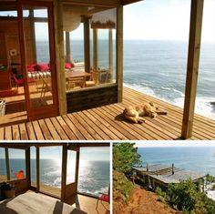 ocean view cliff home