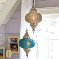 Moroccan Pendants | PBteen  Cute for K's room