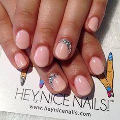Simple and Elegant Wedding Nails #gelish #pinksmoothie #nailart...