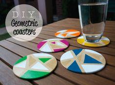 D.I.Y. Geometric coasters