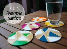 Crafted: D.I.Y. Geometric coasters