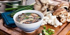 Rich in amino acids and enzymes, miso paste is a nourishing ingredient and a kitchen staple. Combine miso, mushrooms and nutrient dense dulse seaweed for a deli Dairy Free Recipes, Vegan Recipes, Tofu, Nutrition Shakes, Plant Based Nutrition, Detox Soup, Clean Eating Diet, Soups And Stews, Health Foods