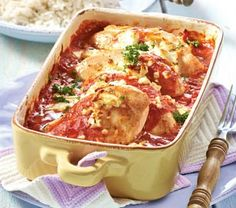 Das Rezept für Paprika-Hähnchen aus dem Ofen und weitere kostenlose Rezepte auf Kochen und Genießen