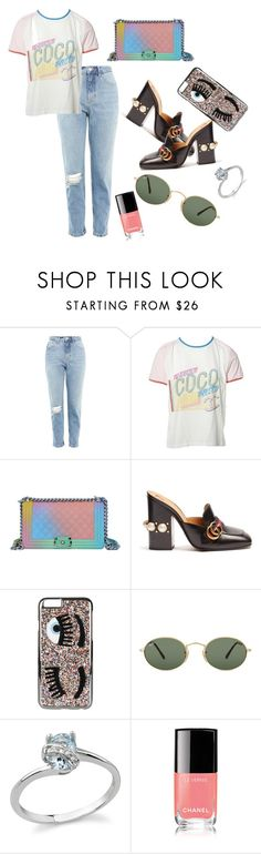 """day"" by erik-a-1 ❤ liked on Polyvore featuring Topshop, Chanel, Gucci, Chiara Ferragni and Ray-Ban"