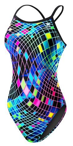 Women's Disco Inferno Diamondfit Swimsuit - Competition Suits - Swimwear - Womens