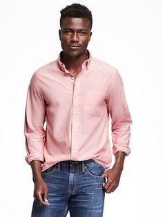 Regular-Fit Classic Shirt For Men