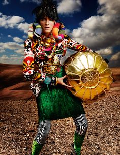 "Visual Texture.. I am loving this shoot by Mario Testino for British Vogue ""High Plains Drifter"""