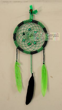 Green and Dark Green Dreamcatcher