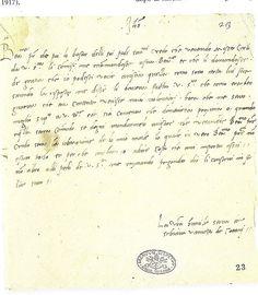 Letter from Vanozza da Cattanei, the mistress of Pope Alexander VI. and mother of Cesare Borgia, to Pope Alexander VI. Date:15th century