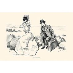 Buyenlarge 'His Vacation Over' by Charles Dana Gibson Painting Print