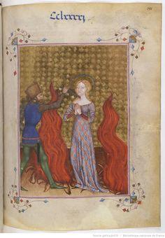 Manuscript BNF Latin 757 Missale et horae ad usum Fratrum Minorum; Folio 298r; Dating 1385-1390; From Milan, Lombardy, Italy; Holding Institution; Bibliothèque Nationale