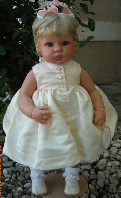 """""""Peaches and Cream"""", a Lee Middleton toddler doll by Reva Schick is now available for only $179 at http://kinderlanddolls.net/Peaches_N_Cream_Middleto.php"""