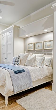 Coastal bedroom design bedroom decor bed white style stylish ideas architecture design interior interior design room ideas home ideas interior design ideas interior ideas interior room home Coastal Bedrooms, Guest Bedrooms, Guest Room, Small Bedrooms, Seaside Bedroom, Peaceful Bedroom, White Bedrooms, Basement Bedrooms, Modern Master Bedroom
