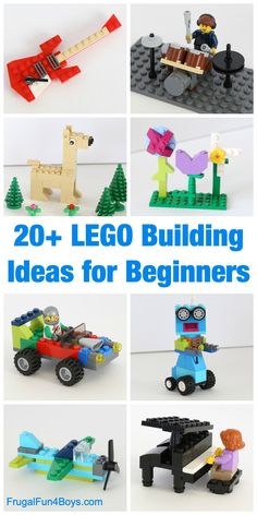 20 LEGO Building Ideas for Beginners. 20 Awesome LEGO Building Ideas for Beginners – Frugal Fun For Boys and Girls. Love this post? Then pass it on! Lego Duplo, Wood Projects For Kids, Crafts For Boys, Diy Projects, Lego Design, Legos, Lego Building, Building Ideas, Building Sets For Kids