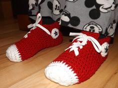 Crochet Tutorial: Sneaker Slippers - YouTube