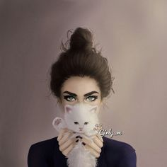 Imagen de girly_m, cat, and drawing