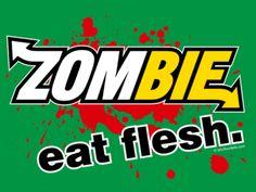 Zombie Tshirt! Only $10.00 bucks kid from walking dead was wearing it! love it!